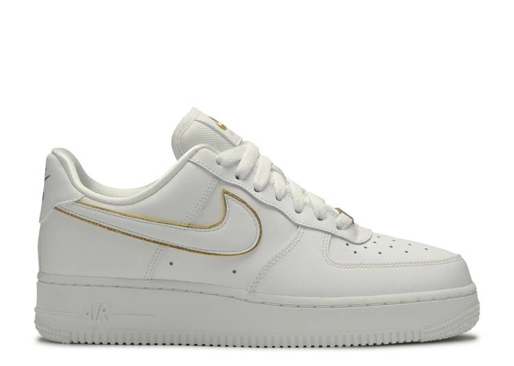 Pez anémona estante Surgir  Wmns Air Force 1 07 ESS 'Metallic Gold' - Nike - AO2132 102 -  white/white/metallic gold | Flight Club