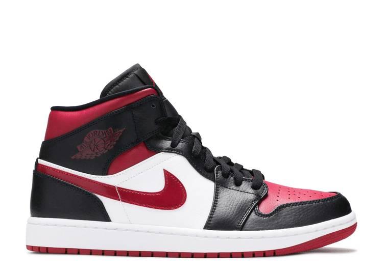 """Air Jordan 1 Mid """"Bred Toe"""""""