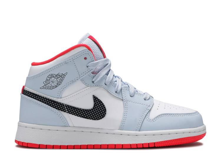 Air Jordan 1 Mid Gs Half Blue Air Jordan 555112 400 Half
