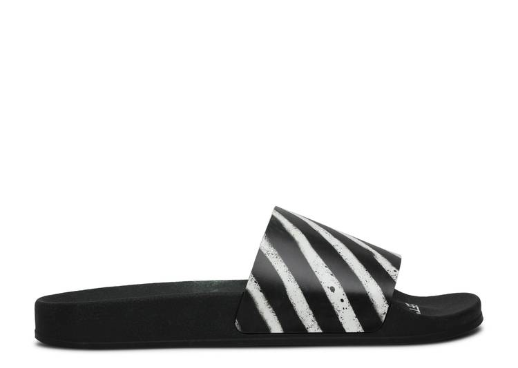 Off-White Sliders 'Graffiti - Black White' 2020