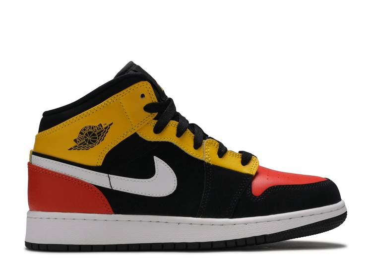Air Jordan 1 Mid SE GS 'Amarillo Team Orange'