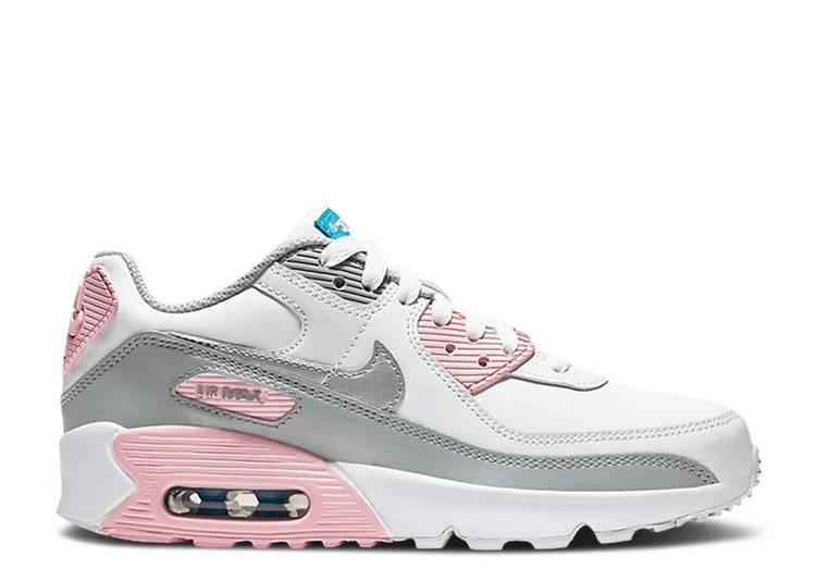 Air Max 90 Leather GS 'Metallic Silver Pink'
