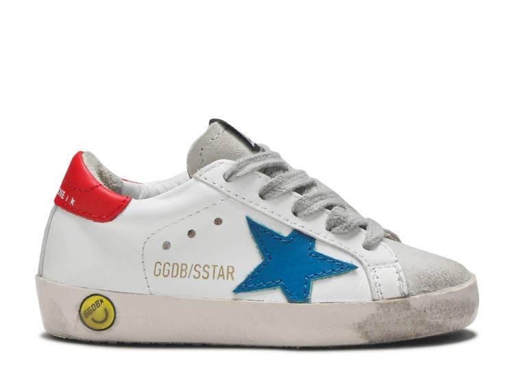 Golden Goose Superstar Kids 'White Blue Red'