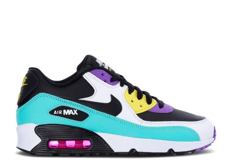 Air Max 90 Leather GS 'Black Clear Jade' - Nike - 833412 030 ...