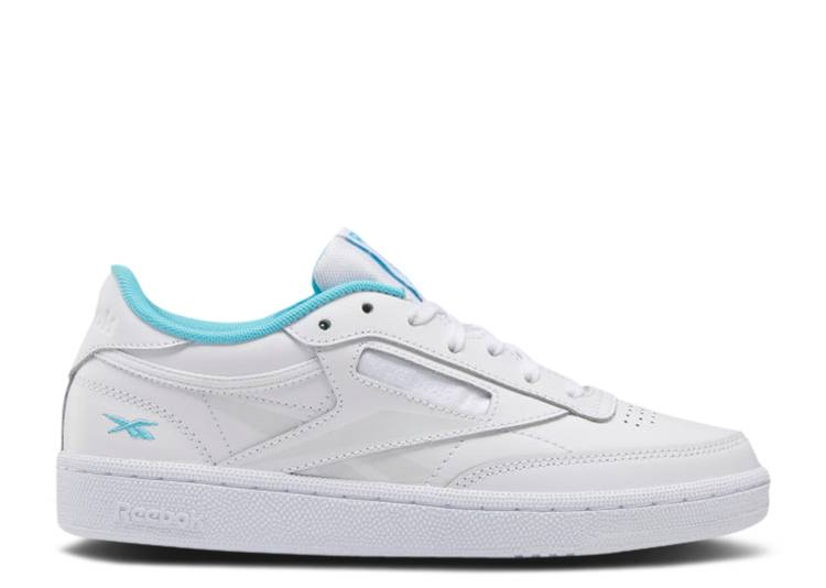Wmns Club C 85 'White Neon Blue'