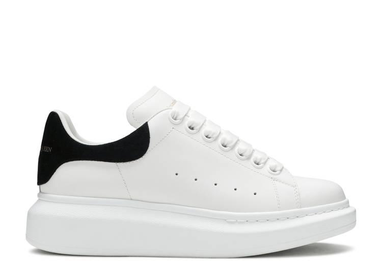 Alexander McQueen Wmns Oversized Sneaker 'White Black' 2019