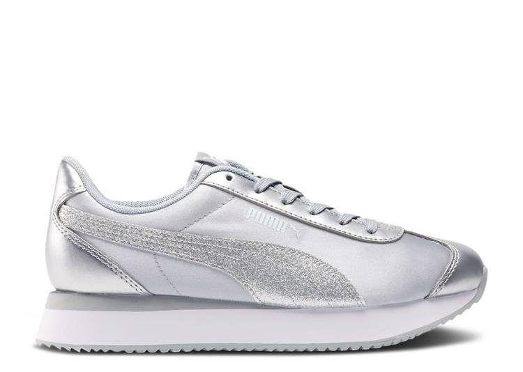 Wmns Turino Stacked 'Silver Glitter'
