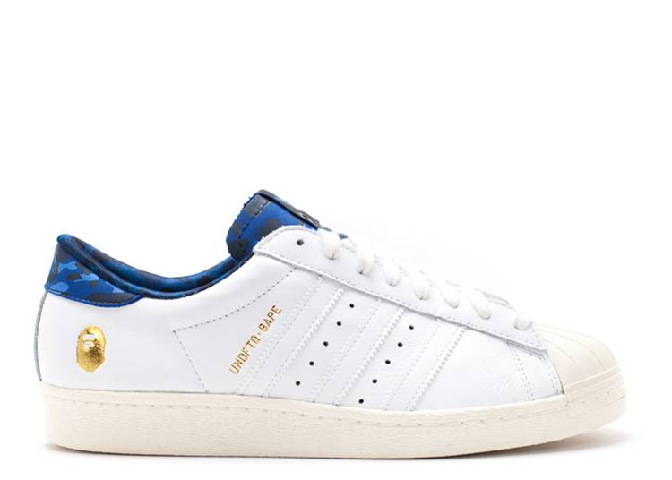 Undefeated x A Bathing Ape x Superstars 80v 'White Blue'