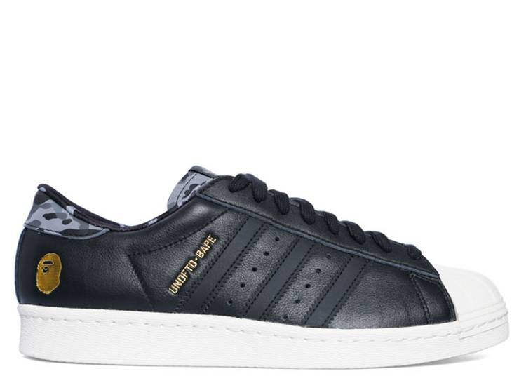 Undefeated x A Bathing Ape x Superstars 80v 'Black'