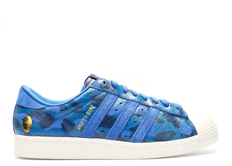 A Bathing Ape x Undeafeated x Superstar 80s 'Blue Camo'