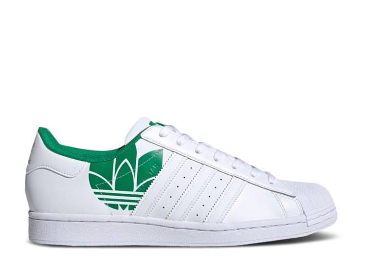 Superstar 'Trefoil Print - White Green'