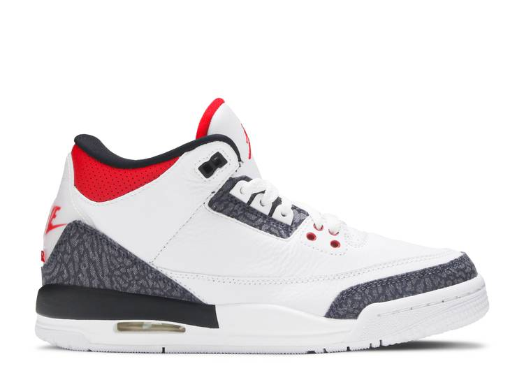 Air Jordan 3 Retro Denim SE GS 'Fire Red'