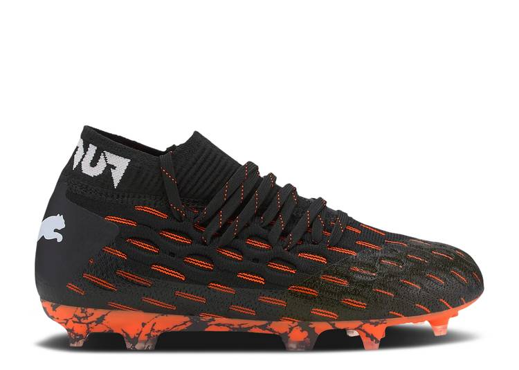 Future 6.1 Netfit FG AG Jr 'Black Shocking Orange'