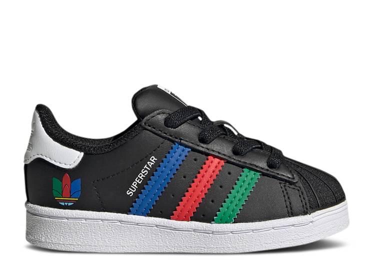 Superstar Infant 'Colorful Stripes - Core Black'