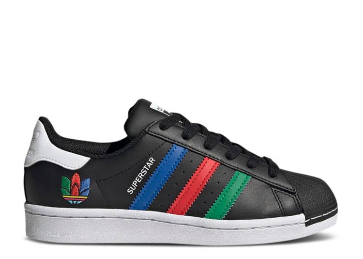 Superstar J 'Colorful Stripes - Core Black'