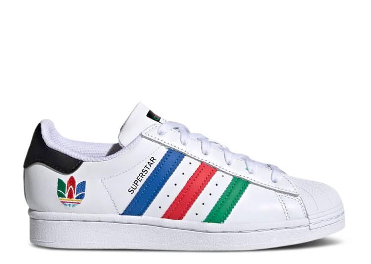 Superstar J 'Colorful Stripes - Cloud White'