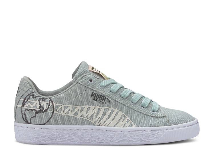 Basket Canvas Winter Jr 'Time 4 Change - Aqua Grey'