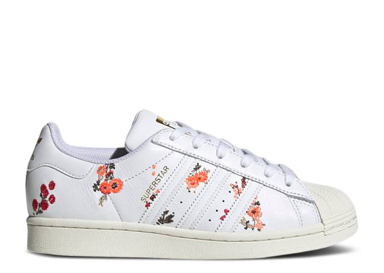 Wmns Superstar 'White Floral'