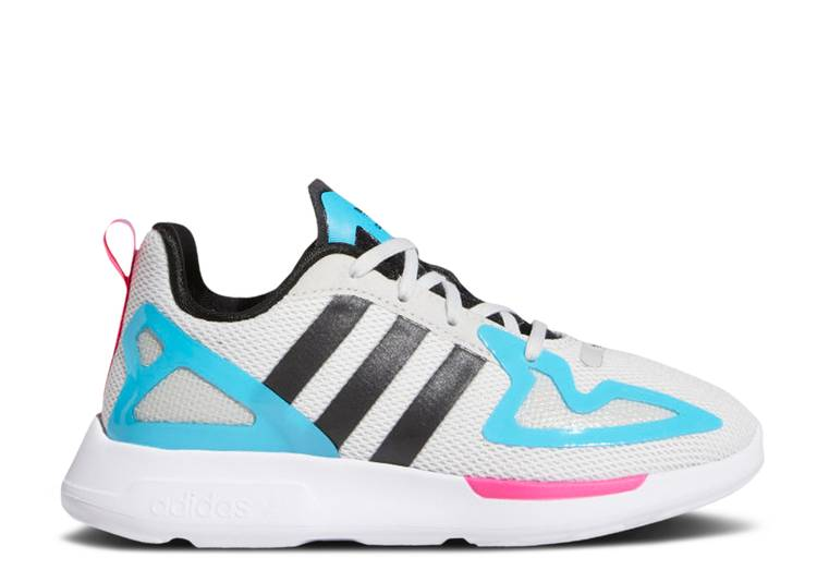 ZX 2K Flux Little Kid 'White Signal Cyan'