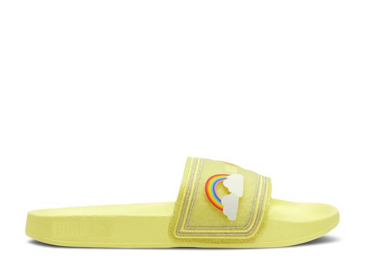 Wmns Leadcat Slides 'Emoji - Sunny Lime'