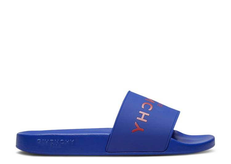 Givenchy Logo Slide 'Electric Blue Red'