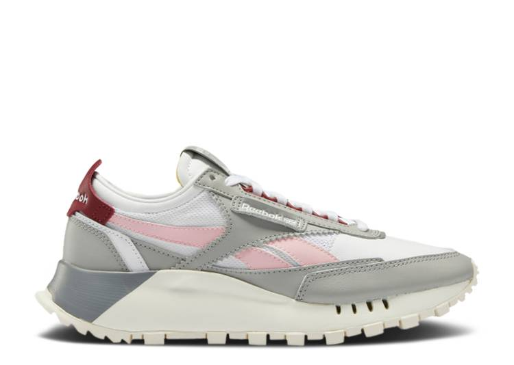 Wmns Classic Leather Legacy 'Stark Grey Maroon'