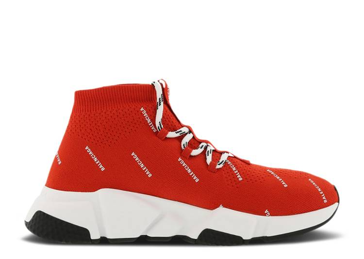 Balenciaga Speed Trainer Knit 'All Over Print - Red'