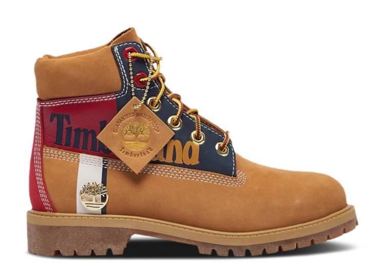 6 Inch Premium Waterproof Boot Junior 'Patch Logo - Wheat'