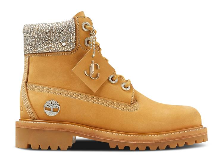 Jimmy Choo x 6 Inch Premium Boot 'Crystal Collar'