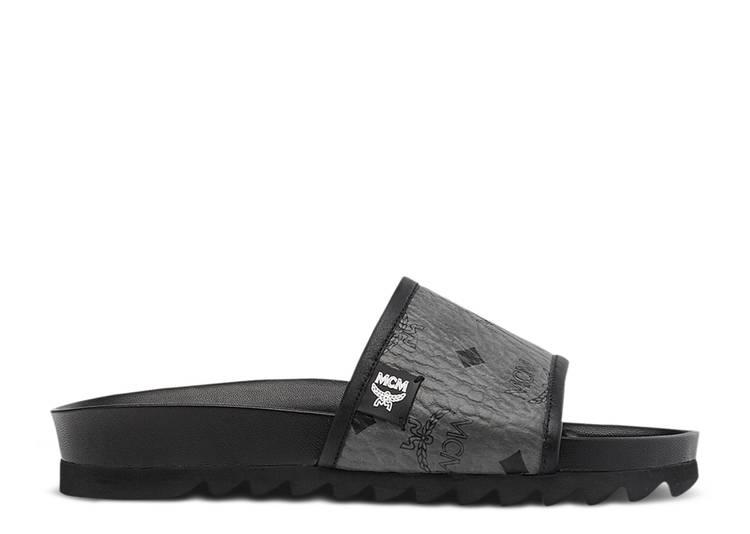 MCM Visetos Slide 'Grey Black'