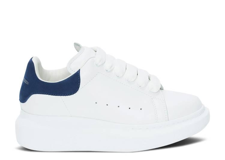 Alexander McQueen Oversized Sneaker Kids 'White Paris Blue'