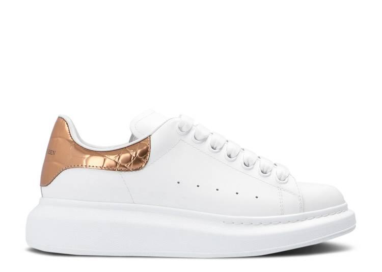 Alexander McQueen Wmns Oversized Sneaker 'White Bronze Gold'