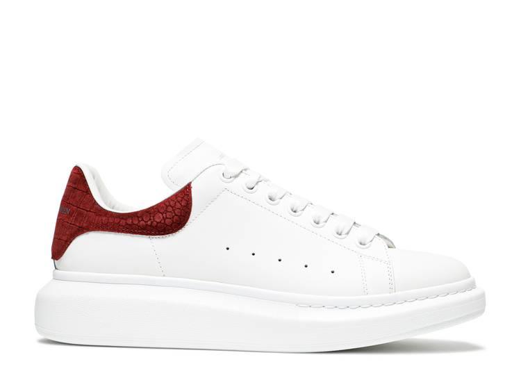 Alexander McQueen Oversized Sneaker 'Burgundy Crocodile'