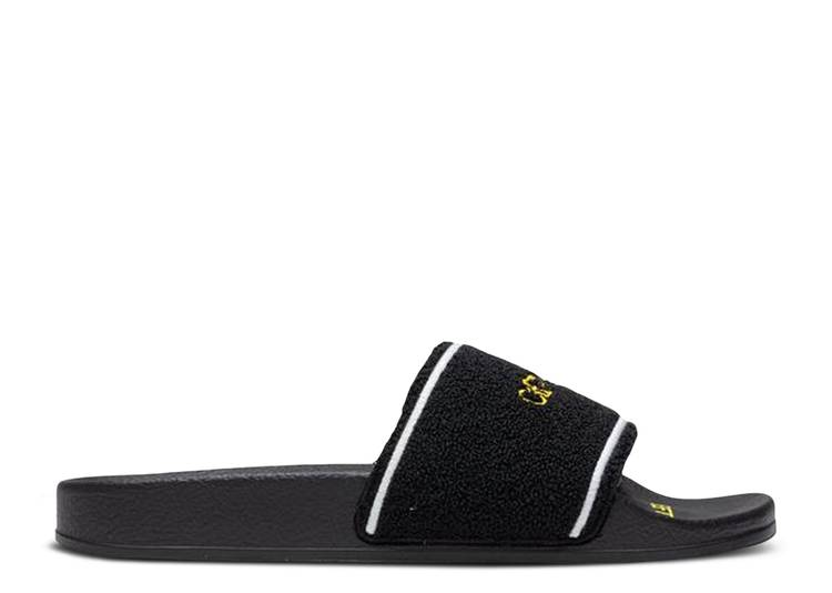 Off-White Logo Sliders 'Towel - Black Yellow'