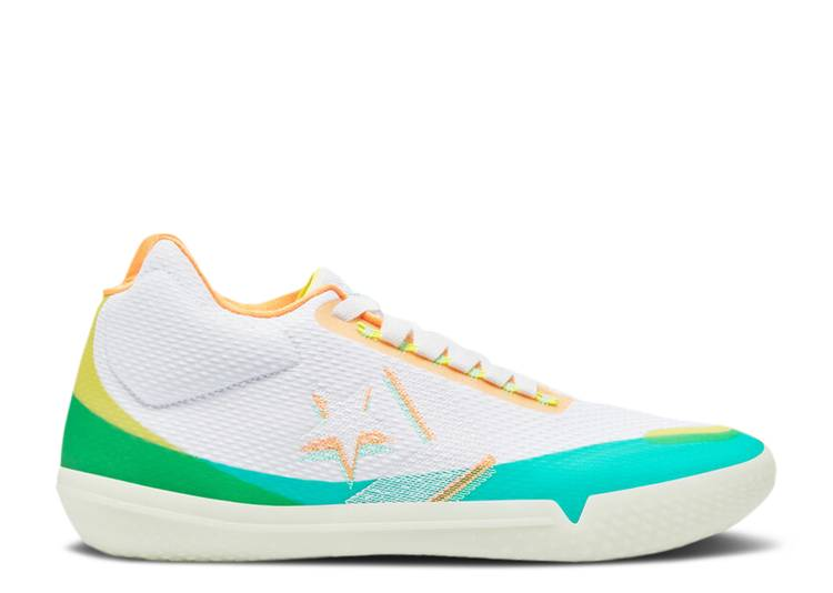 All Star BB Evo Mid 'Hi-Vis Collection - White Green Glow'