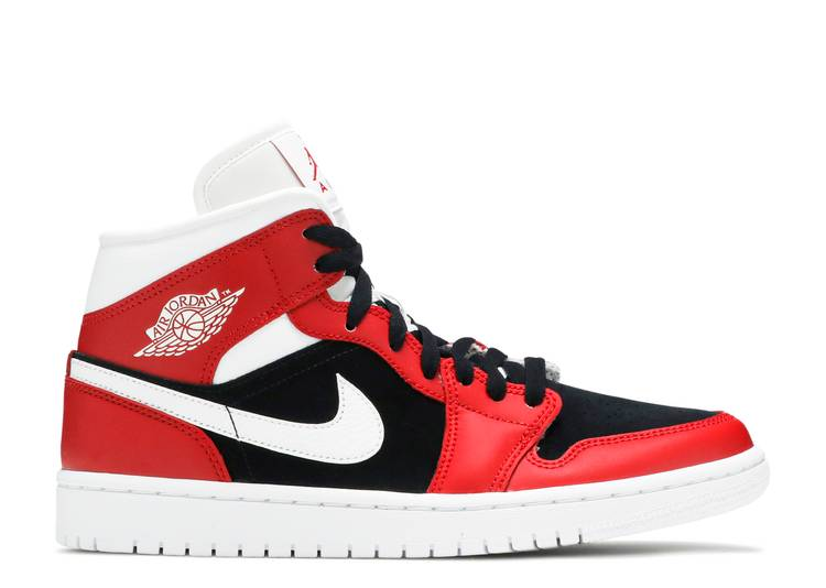 Wmns Air Jordan 1 Mid 'Gym Red Black'