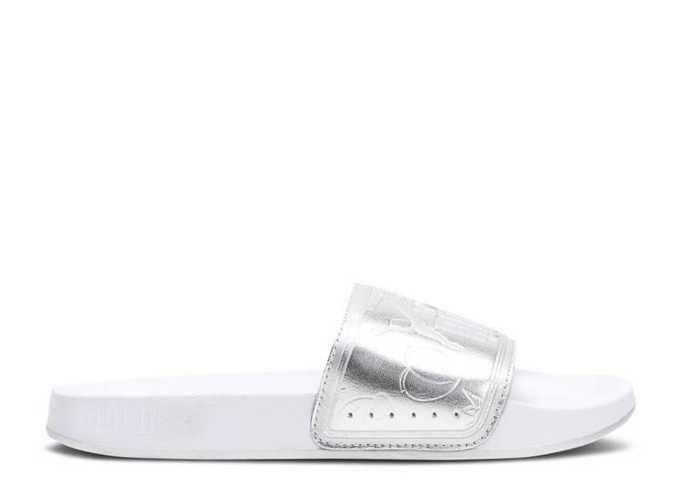 Leadcat Slides Jr 'Emoji - Silver'