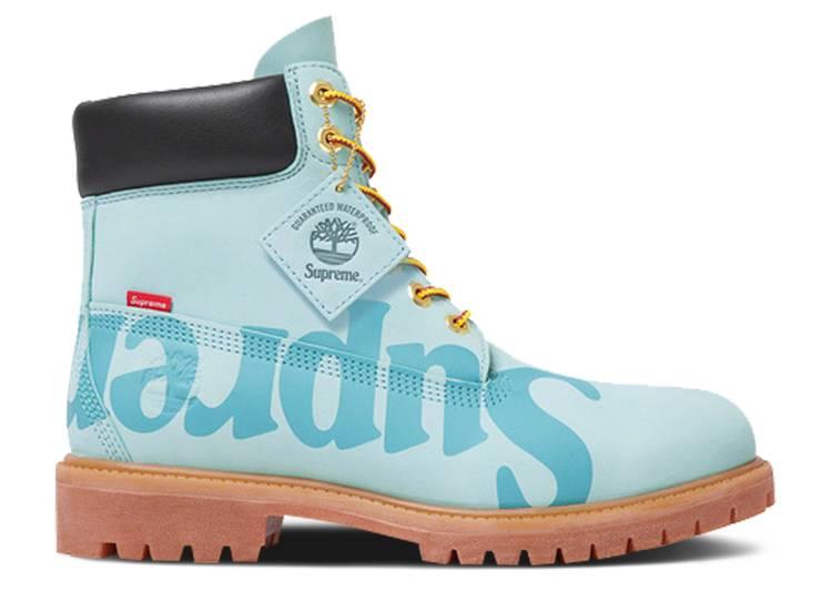 Supreme x 6 Inch Premium Waterproof Boot 'Big Logo - Light Blue'
