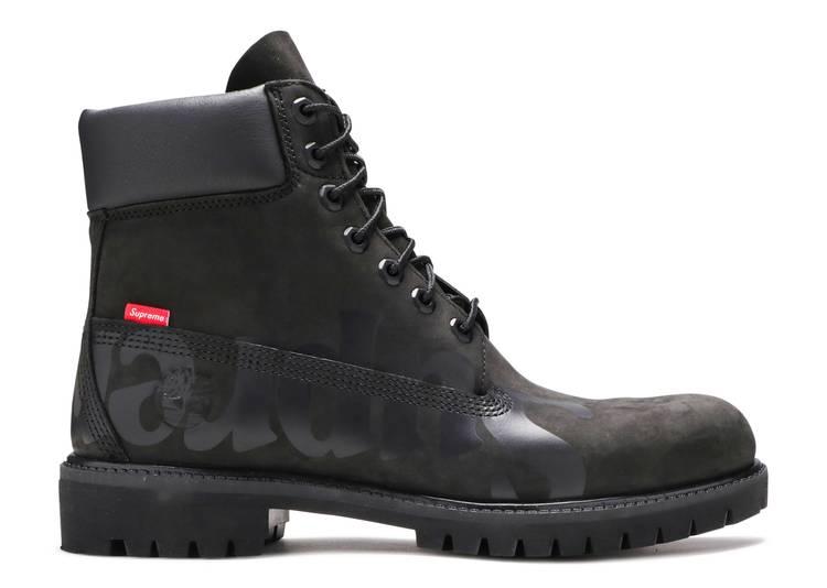Supreme x 6 Inch Premium Waterproof Boot 'Big Logo - Black'