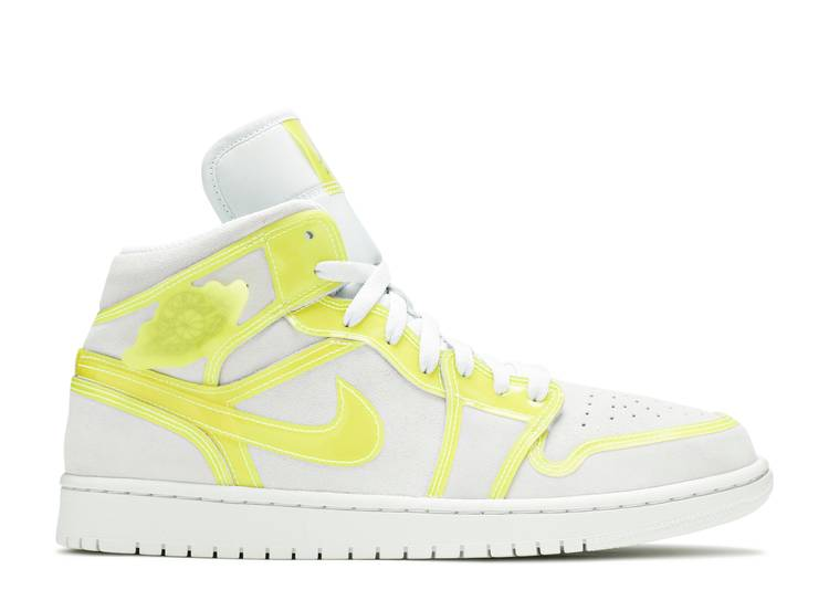Wmns Air Jordan 1 Mid LX 'Off White Opti Yellow'