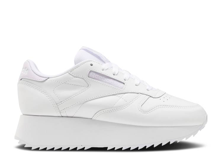 Wmns Classic Leather Double 'White'