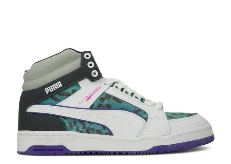 Slipstream Animal Lace Up Mid 'White Fluo Teal'