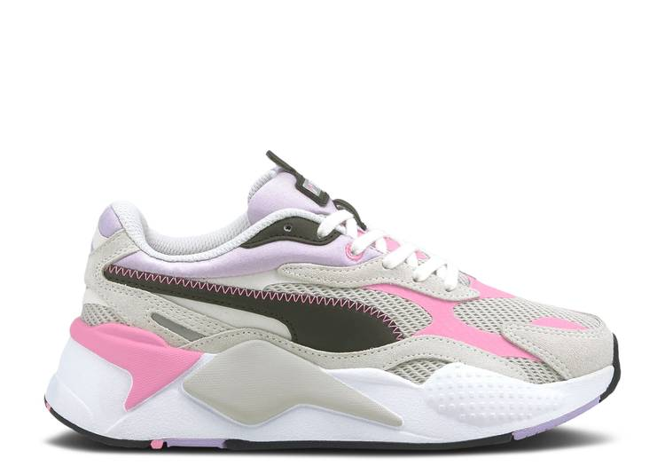 RS-X3 Twill Jr 'Grey Violet Pink'