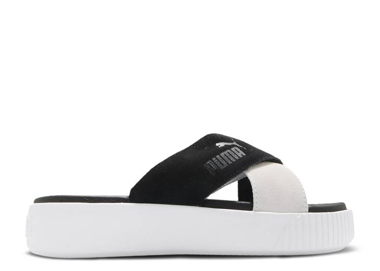 Wmns Platform Sandal 'Black White'