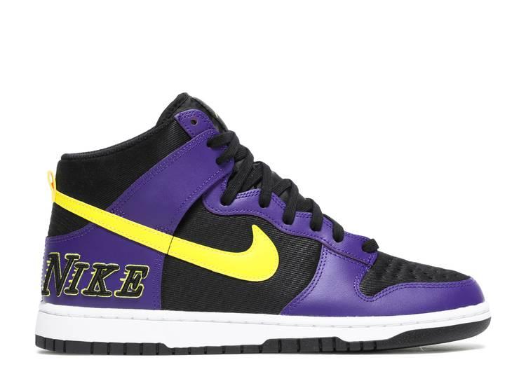 Dunk High Premium EMB 'Lakers'
