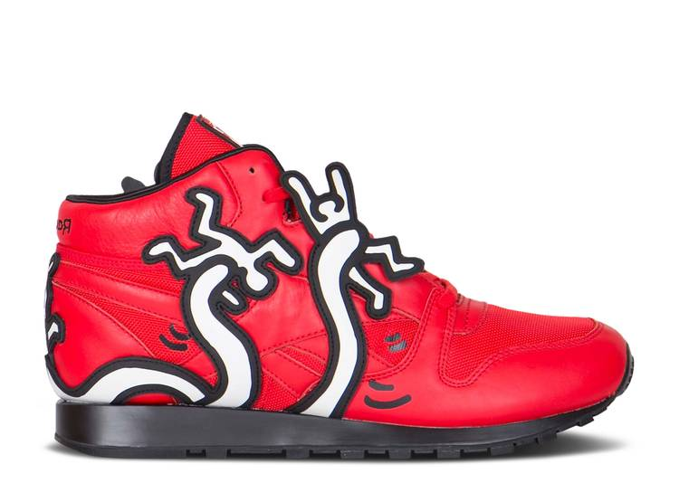 Keith Haring x Classic Leather Mid LUX 'Techy Red'