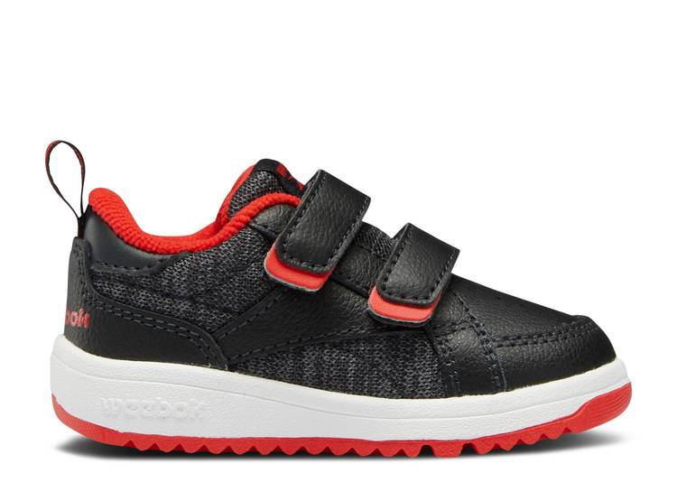 Weebok Clasp Low Toddler 'Night Black Vector Red'
