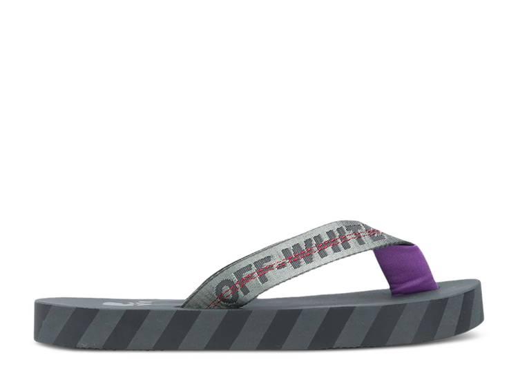 Off-White Flip Flops 'Graphic Print - Grey'