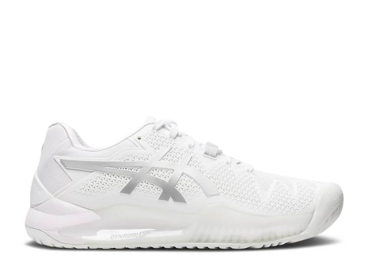 Wmns Gel Resolution 8 'White Pure Silver'