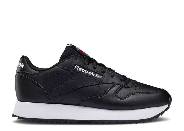 Wmns Classic Leather Ripple 'Black White'